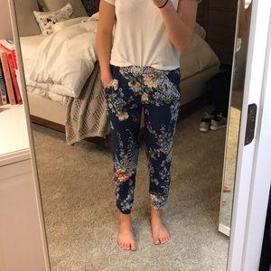 Silk floral Zara pants